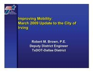 March 2009 Update to the City of Irving - City of Irving, Texas
