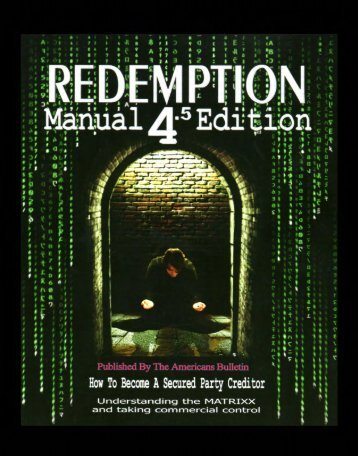 redemption manual 4.5 edition