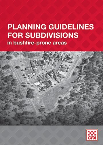 Subdivision in bushfire-prone areas - Country Fire Authority