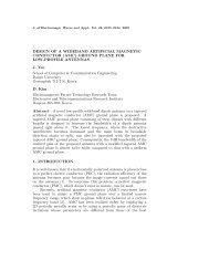 DESIGN OF A WIDEBAND ARTIFICIAL MAGNETIC CONDUCTOR ...
