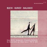 Buch . Kunst . Balance - Deutsche Nationalbibliothek