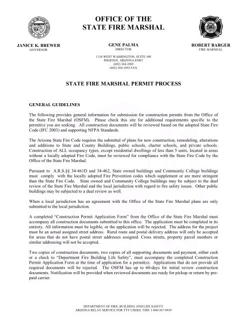 State Fire Marshal Permit Process - Department of Fire