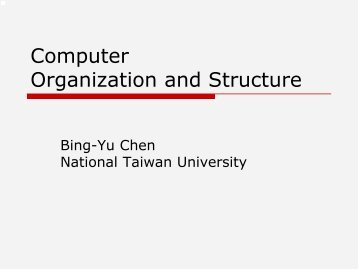 Computer Organization and Structure - Computer Graphics Laboratory