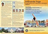 YOGALEHRER-AUSBILDUNG (ATTC) - Sivananda Yoga