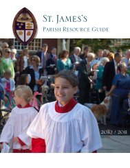 Parish Resource Guide - St. James's Episcopal Church