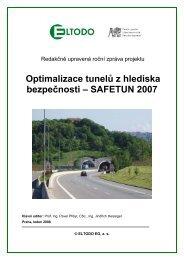 Optimalizace tunelů - Ředitelství silnic a dálnic