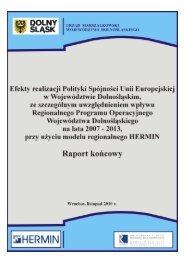 Efekty realizacji Polityki Spójności Unii Europejskiej w ...