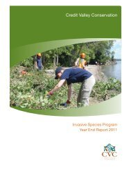 CVC Invasive Species Program Report, 2011 - Credit Valley ...