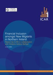 Financial Inclusion amongst New Migrants in Northern Ireland - ICAR