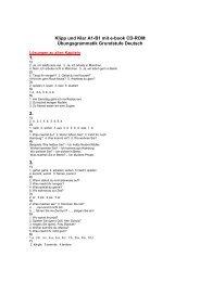 Klipp und Klar A1-B1 mit e-book CD-ROM Übungsgrammatik ... - Klett
