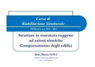 Comportamento degli edifici - Università degli Studi della Basilicata