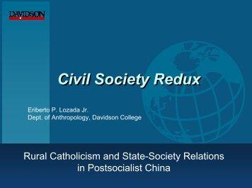 Civil Society Redux: Rural Catholicism and ... - Davidson College