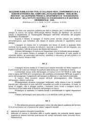 selezione pubblica per titoli e colloquio per il conferimento di n. 2 ...
