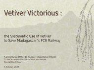 Vetiver Victorious : - The Vetiver Network International