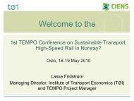 Social - Transport og miljø