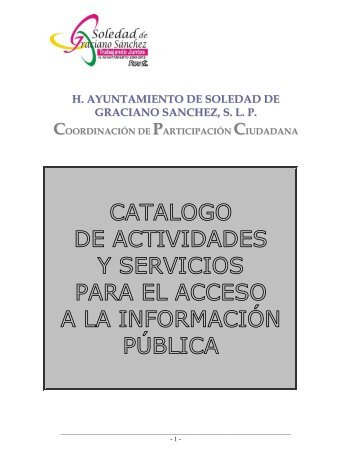 Participación Ciudadana - Municipio Soledad de Graciano Sanchez