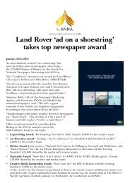 'ad on a shoestring' takes top newspaper award - CreativeMatch