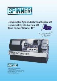 Precision made in Europe - Spinner Werkzeugmaschinenfabrik GmbH