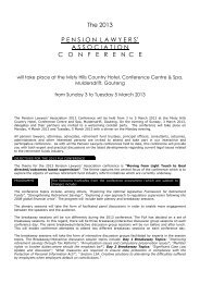 2013 PLA Conference Flyer - Pension Lawyers Association of South ...