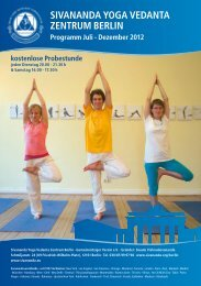 Berlin Programm - Sivananda Yoga