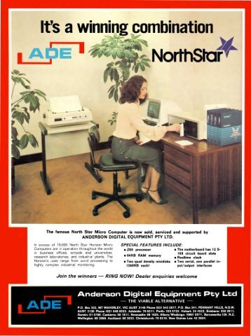 the famous North Star Micro Computer is now sold, serviced and ...