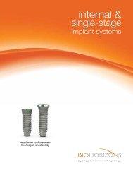 Internal & Single-stage - dental implants - BioHorizons