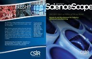 Research and development for industry: Advanced ... - CSIR