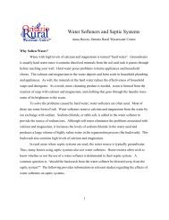 Water Softeners And Septic Systems