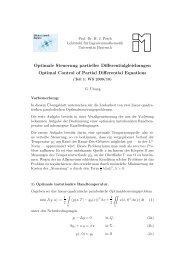 Optimale Steuerung partieller Differentialgleichungen Optimal ...
