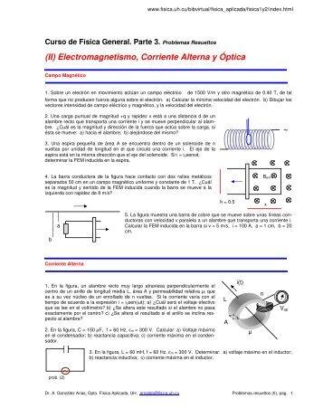 (II) Electromagnetismo, Corriente Alterna y Óptica ~