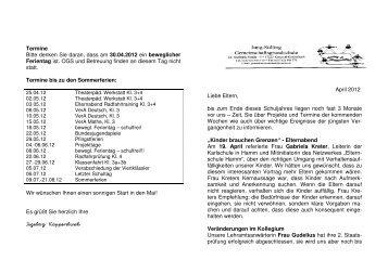 Elternbrief April2012 - Grundschule Kredenbach