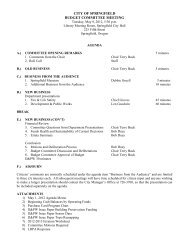 May 8, 2012 Agenda Packet - City of Springfield