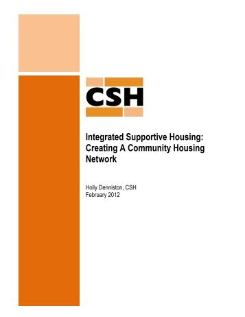Integrated Supportive Housing: Creating A Community Housing ...