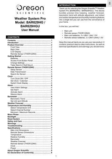 Oregon scientific wmr80a manual