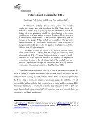 Futures-Based Commodities ETFs - SLCG Securities Litigation ...