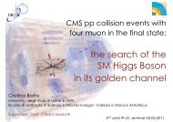 the search of the SM Higgs Boson in its golden channel - Universita