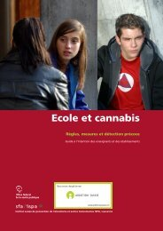 Ecole et cannabis - Addiction Suisse