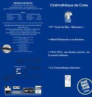 Avril Mai Juin 2009 - Cinémathèque de Corse