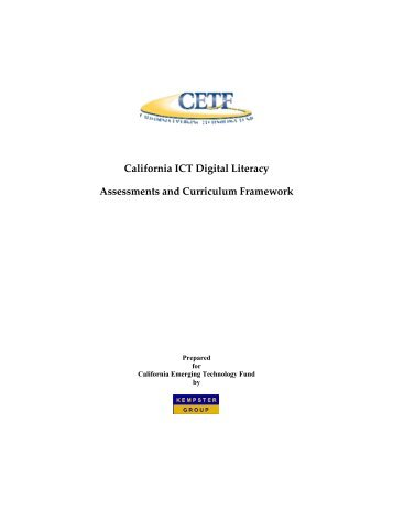 California ICT Digital Literacy Assessments and Curriculum ...