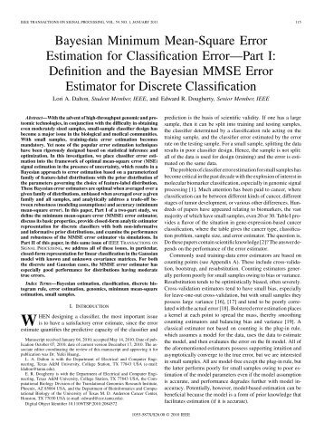 Bayesian Minimum Mean-Square Error Estimation for ... - IEEE Xplore