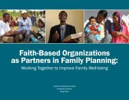 Faith-Based Organizations as Partners in Family Planning: Working ...