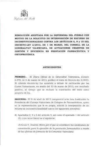Ver Resolución del Defensor del Pueblo