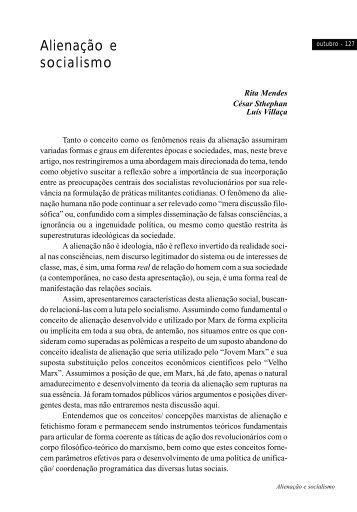 Alienação e socialismo - Revista Outubro
