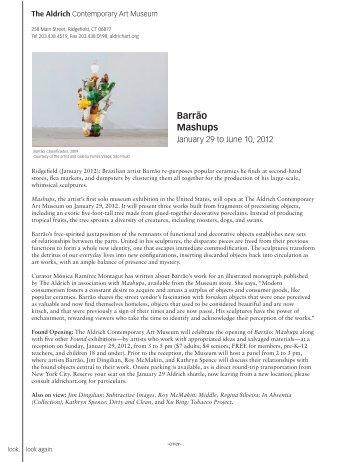 Barrão Mashups - The Aldrich Contemporary Art Museum