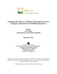 Funding Business Development Services - Field