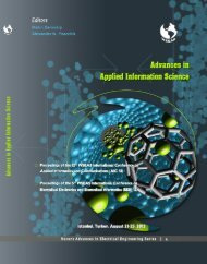 ADVANCES in APPLIED INFORMATION SCIENCE - WSEAS
