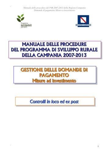 Misure ad investimento - Regione Campania