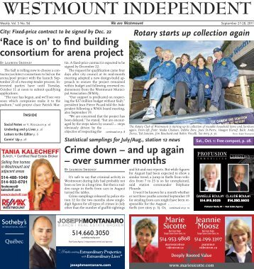 September 27 - Westmount Independent