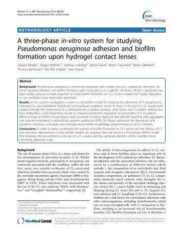 Pseudomonas aeruginosa - BioMed Central