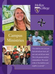 Campus Ministries Brochure - Molloy College